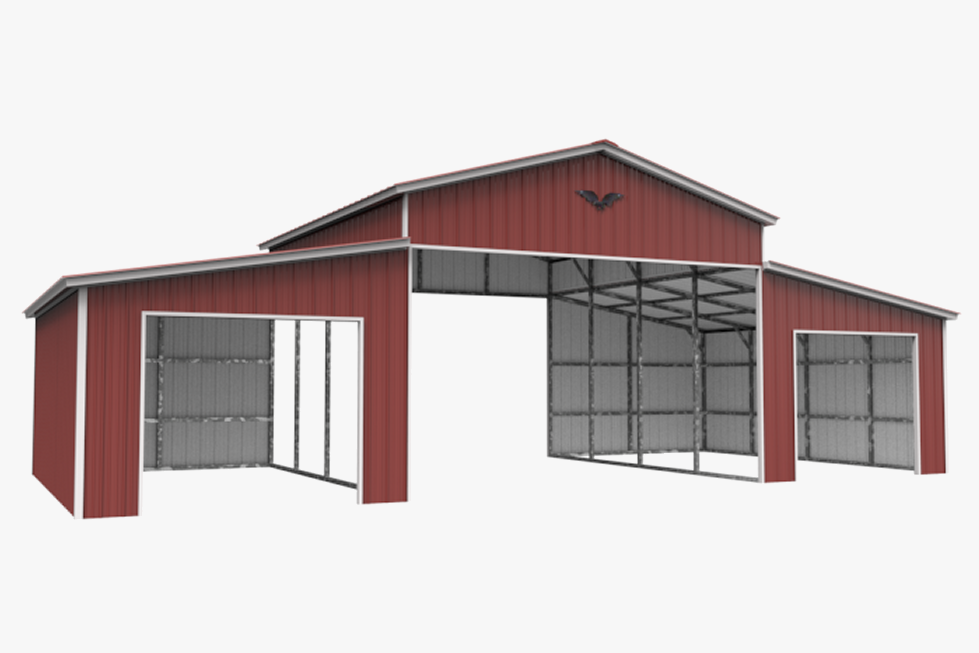 Horse barns ums for Red barn prefab